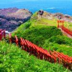 Motonosumi Inari Shrine – Torii (Shrine gate) is seemingly extending into the sea.