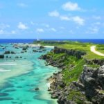 "Higashi-hennazaki Cape. One of the 100 best sceneries in Japan! A cape facing the cobert blue sea ""Higashi-hennazaki Cape"""